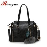 RANYUE Women Fur Handbags 2017 High Quality Vintage Women Bags Women PU Leather Shoulder Messenger Bags