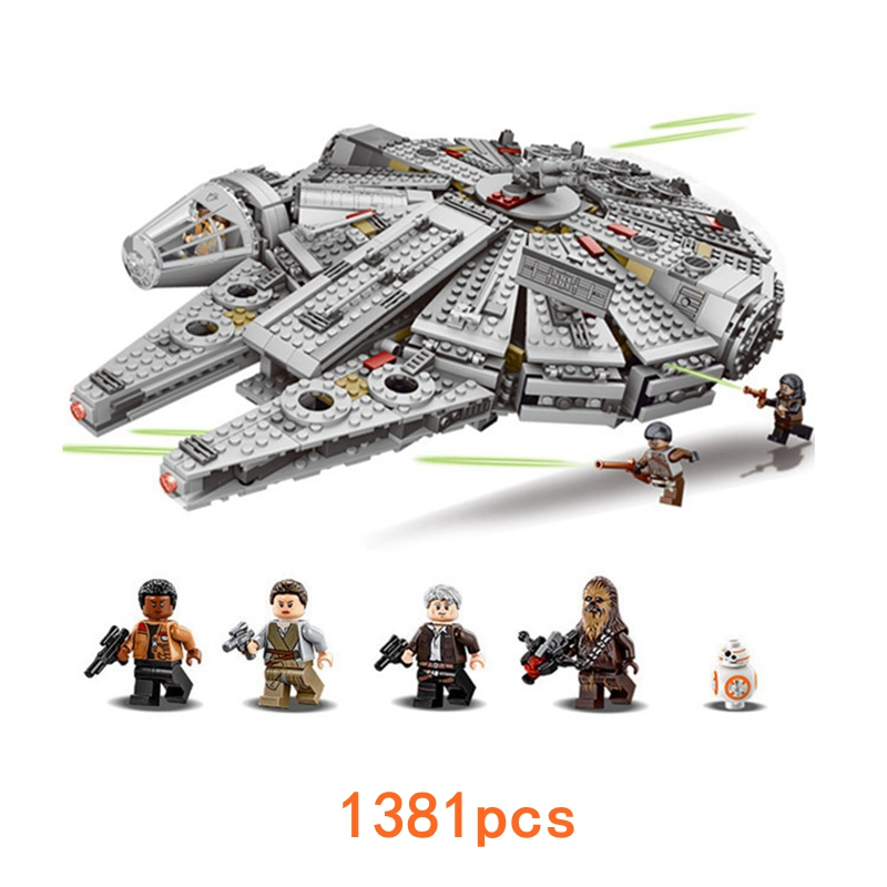 1381pcs Millennium Falcon Toys Compatible legoed Star Wars Outer Space Ship Marvel Friends Building Block Bricks Models Toys toys in space