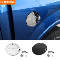 SHINEKA ABS Iron Safety Fuel Tank Cover Oil Lip Sticker Gas Tank Cap With Key Car