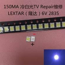 500 pçs original lextar 2835 3528 1210 6v 2w smd led para reparação tv retroiluminação branco frio lcd retroiluminação led