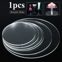 Pendientes de círculo acrílico extruido transparente de 3mm con agujeros discos acrílicos cuentas de plexiglás para marcos de fotos