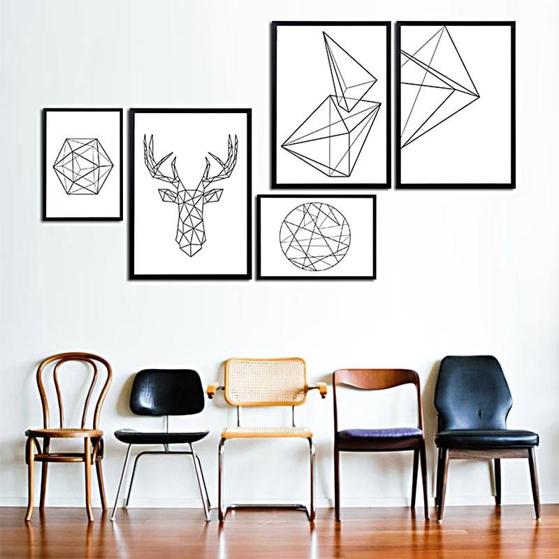 Wall, Geometric, Canvas, Print, Decorative, Art
