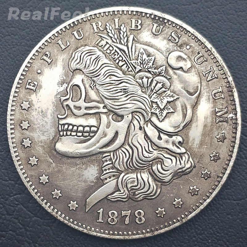 XDLiu Best Morgan Silver Coins 1888 Hobo Nickel Coin plated
