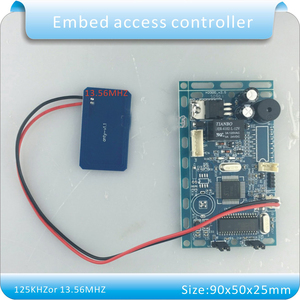 Image 3 - Free shipping 13.56MHZ frequency Embedded RFID board Proximity Door Access Control System intercom module + Infrared handle