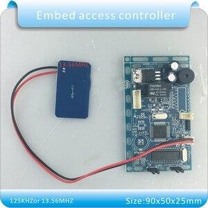 Image 3 - Gratis verzending 13.56 MHZ frequentie Embedded RFID board Proximity Deur Access Control System intercom module + Infrarood handvat