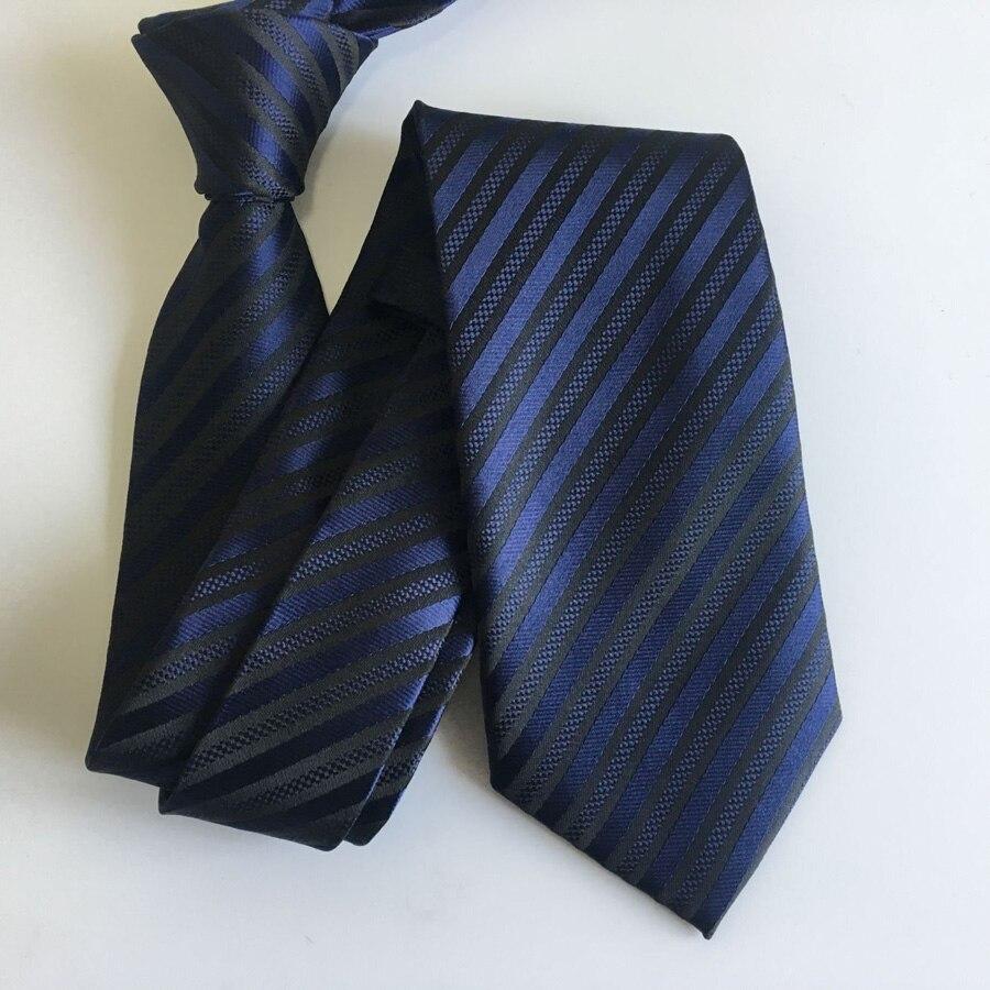 8 см классический тканый галстук мужской элегантный галстук Королевский синий с черными галстуки в полоску