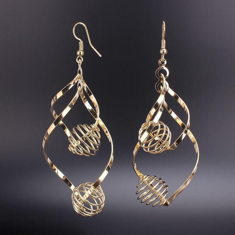 d84cc92c8 Metal Alloy Earrings Women Girl Alloy Jewelry Gold Long Drop Earrings  Luxury Dangle Earrings Jewelry 2 colors Fashion earrings