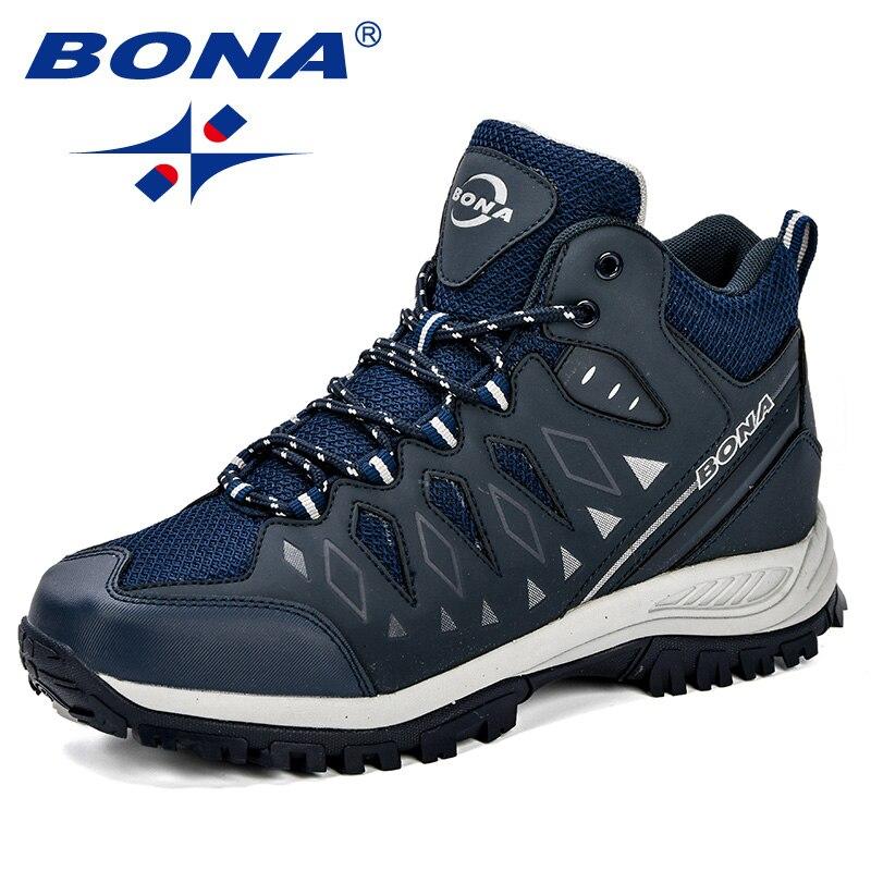 BONA nouveau Design hommes chaussures montagne grande taille marque chaussures hommes Anti-glissant chaussures de randonnée confortable hommes chaussures de Jogging en plein air - 3