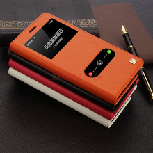 4 Colors For Samsung Note4 N9100 Real Genuine Natural Cowhide Leather Luxury Flip Magnetic Phone Cover