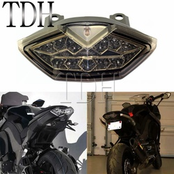 Motocykl Turn Signal LED światło hamowania zintegrowane światło tylne dla 2010-2017 Kawasaki Z1000SX Z1000 Ninja 1000 Versys 650 dym