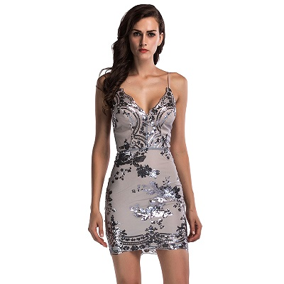 Dropwow Evening Sexy Black Gold Sequin Dress Women Befree Party ... 0eafe5fc210a