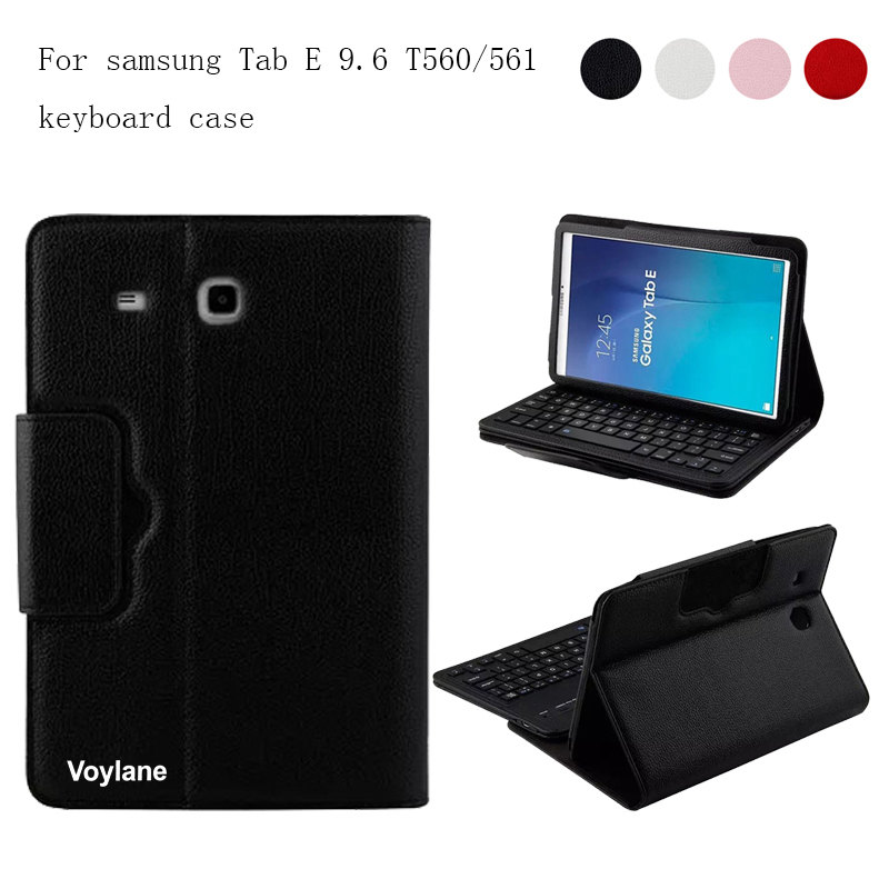 где купить  2 in 1 Removable Wireless Bluetooth Keyboard Case For Samsung Galaxy Tab E T560 T561 9.6 inch Tablet PC Case Cover Skin Shell  дешево