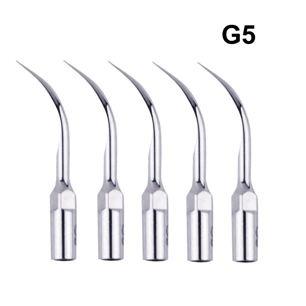 5Pieces G5 Dental Ultraljud Piezo Scaler Scaling Tips Hanpiece Passar EMS UDS