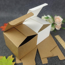 20pcs 40 sizes Kraft paper cardboard box for packing DIY Brown packaging boxes Small candy handmade soap