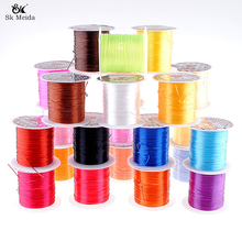1mm DIY Crystal Beading Stretch Cord Elastic Line Transparent Clear  Beading Wire Thread Jewelry Making HE-71