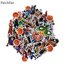 Patchfan 56Pcs Dragon Ball Z Cartoon Kids Mainan Stiker DIY Scrapbooking Album Bagasi Laptop Ponsel Notebook Stiker A1527(China)