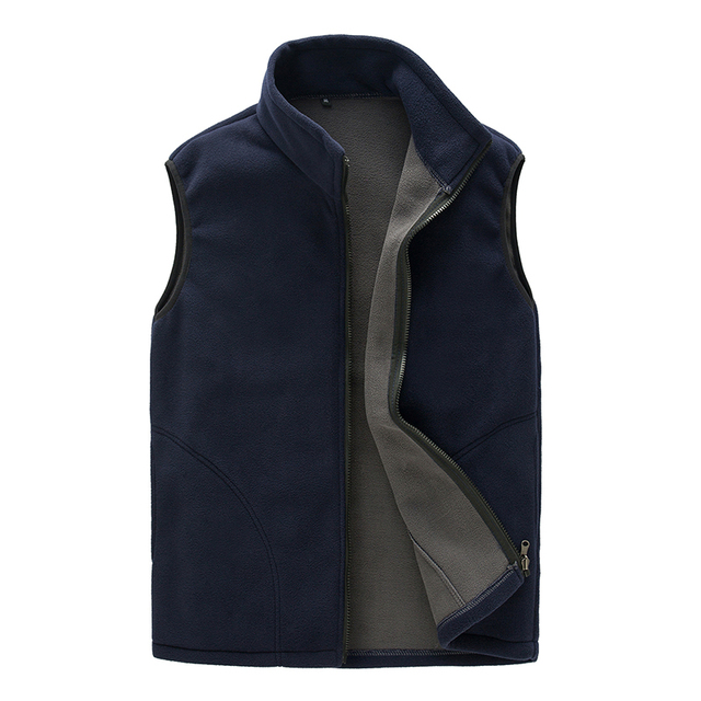 High Quality Autumn Travel Leisure Thermal Fleece Vest Men Sleeveless Casual Bodywarmer Waistcoat Full Zip Outdoors Gilet Colete