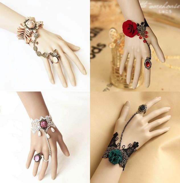 Lace Bracelet Handmade Vintage Gothic Slave Bracelets Bangles Diy Bride Wedding Accessories