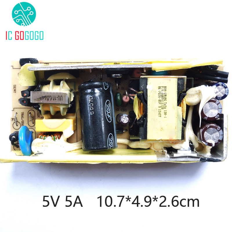 5000MA AC DC 100 240V To 5V 5A Switching Power Supply Bare ...
