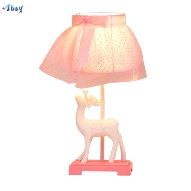 Children S Room Princess Style Pink Table Lamps Dresser Light Kids