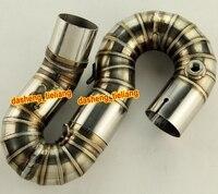 51mm Motorcycle Link Mid Pipe Tube For Honda CBR1000RR 2008 2009 2010 2011 2012 2013 2014 2015 CBR 1000 RR Stainless Steel