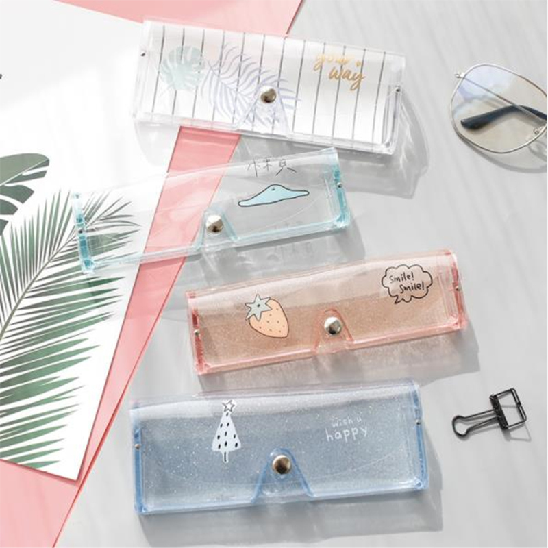 Cartoon Cute Travel Women Transparent Eye Glasses Box Bag Case Protection Carry Box Eyewear Accessoires Storage Glasses Case