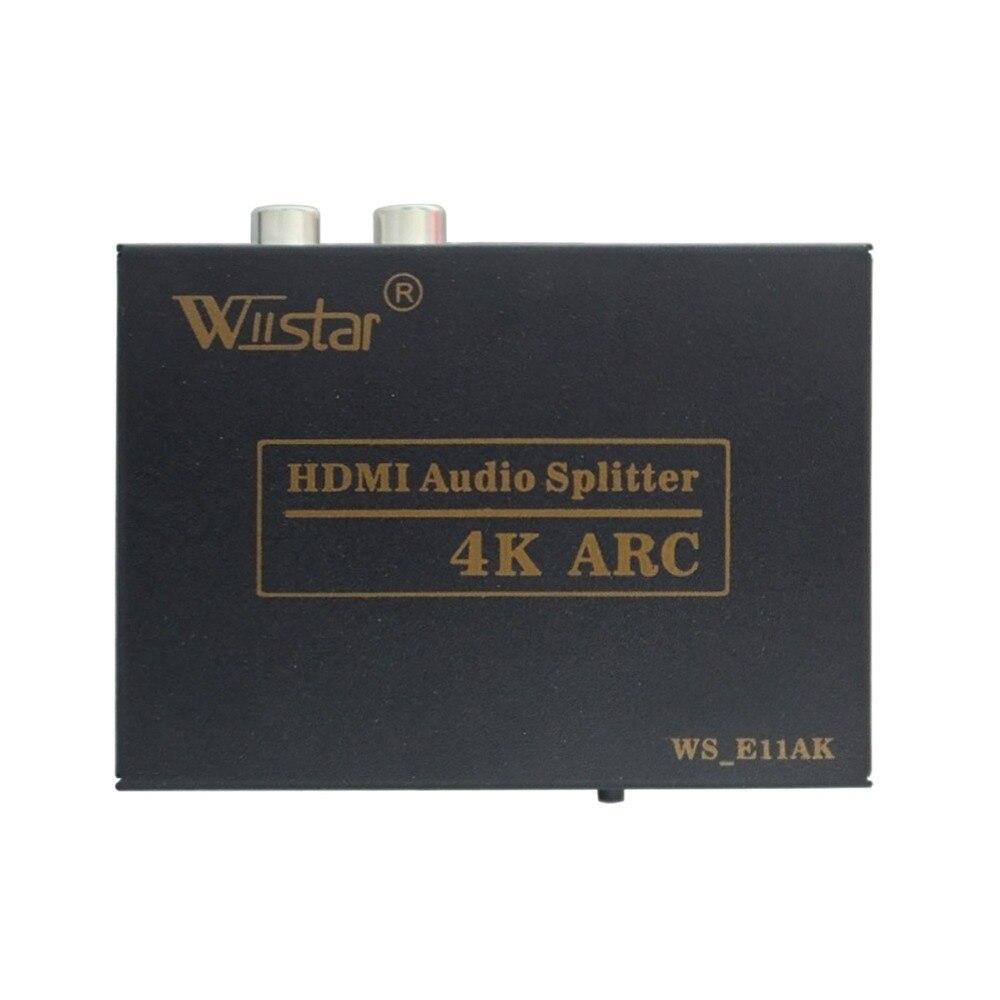 Apoio do ARCO de alta Qualidade Mini HDMI para HDMI Extrator De Áudio SPDIF Óptica Com Adaptador de Energia 4 K x 2 K HDMI Extrator De Áudio