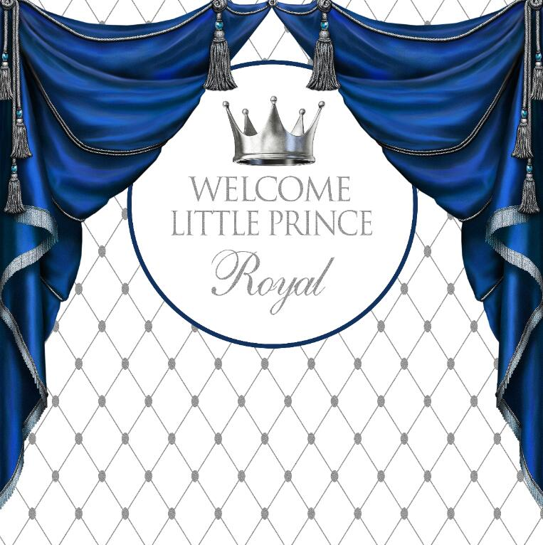 Consumer Electronics Custom Little Prince Baby Shower Silver Crown Curtains Photo Backdrop High Quality Computer Print Party Background Pleasant In After-Taste