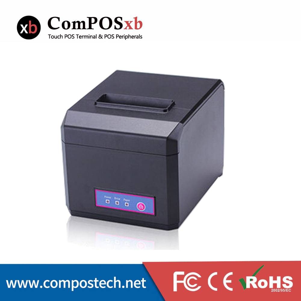 Lowest Price Thermal Receipt POS Printer 80mm For Supermarket System USB+RS232+LAN InterfaceLowest Price Thermal Receipt POS Printer 80mm For Supermarket System USB+RS232+LAN Interface