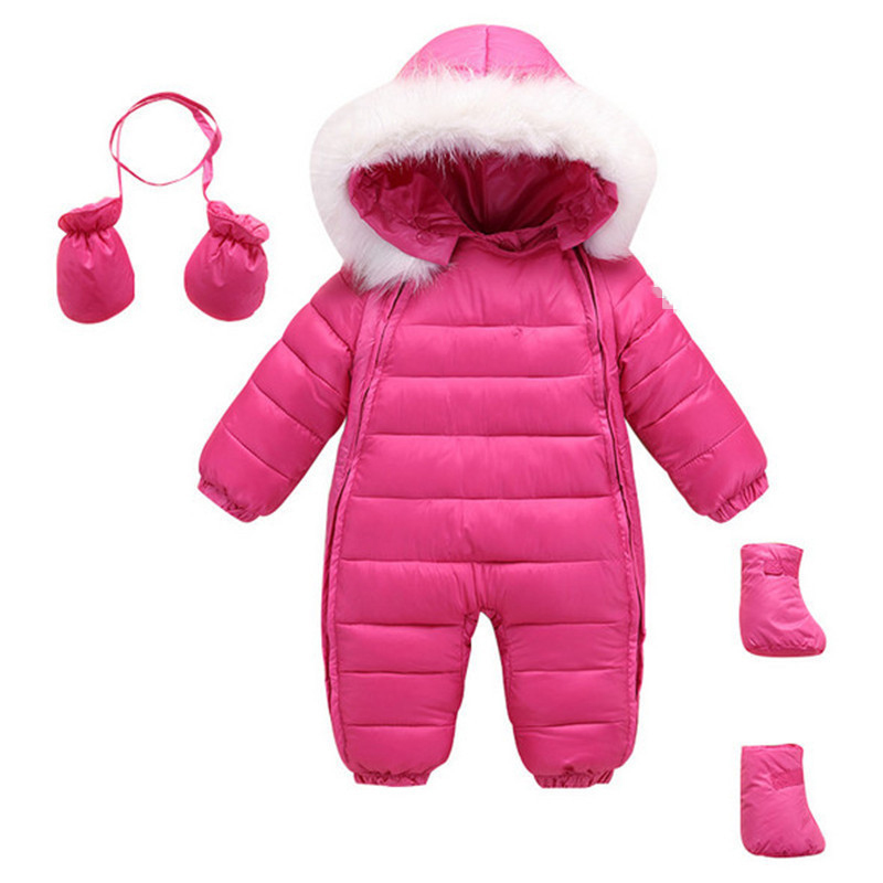 2017 Chirldren s Clothing Girl Boys Duck Down Baby Easter Jackets Snowsuit Girls Newborn Hood Clothes