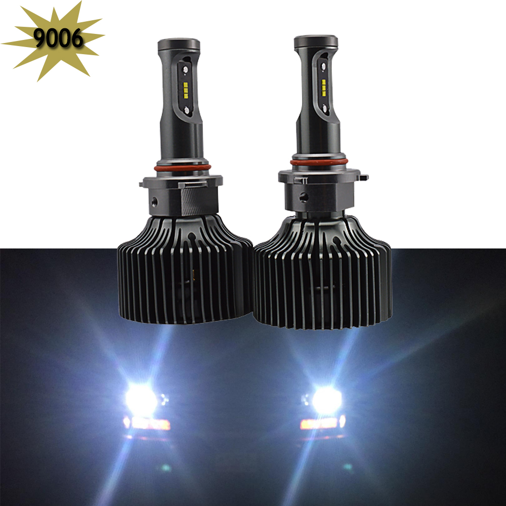 1 Pair 9006 HB4 LED Headlight Conversion Kit Low Beam driving lighting Led Bulbs 6000K Super White Replace Halogen or HID Bulbs new 2x 160w 16000lm h4 led headlight kit high low beam bulbs lamp 6000k cold white auto truck replace led conversion kit