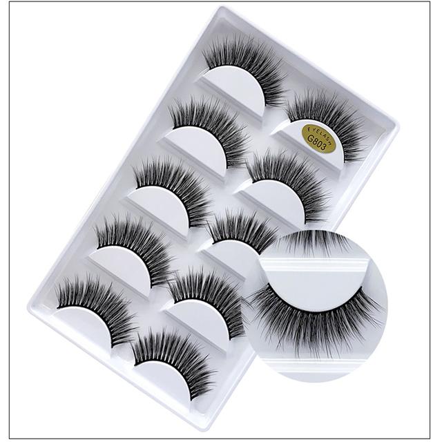 5 pairs of 3D false eyelashes