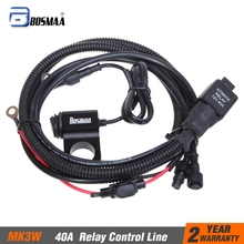 1set Bosmaa 40A Relay switch control line group for automotive car worklight spotlight motorcycle headlight