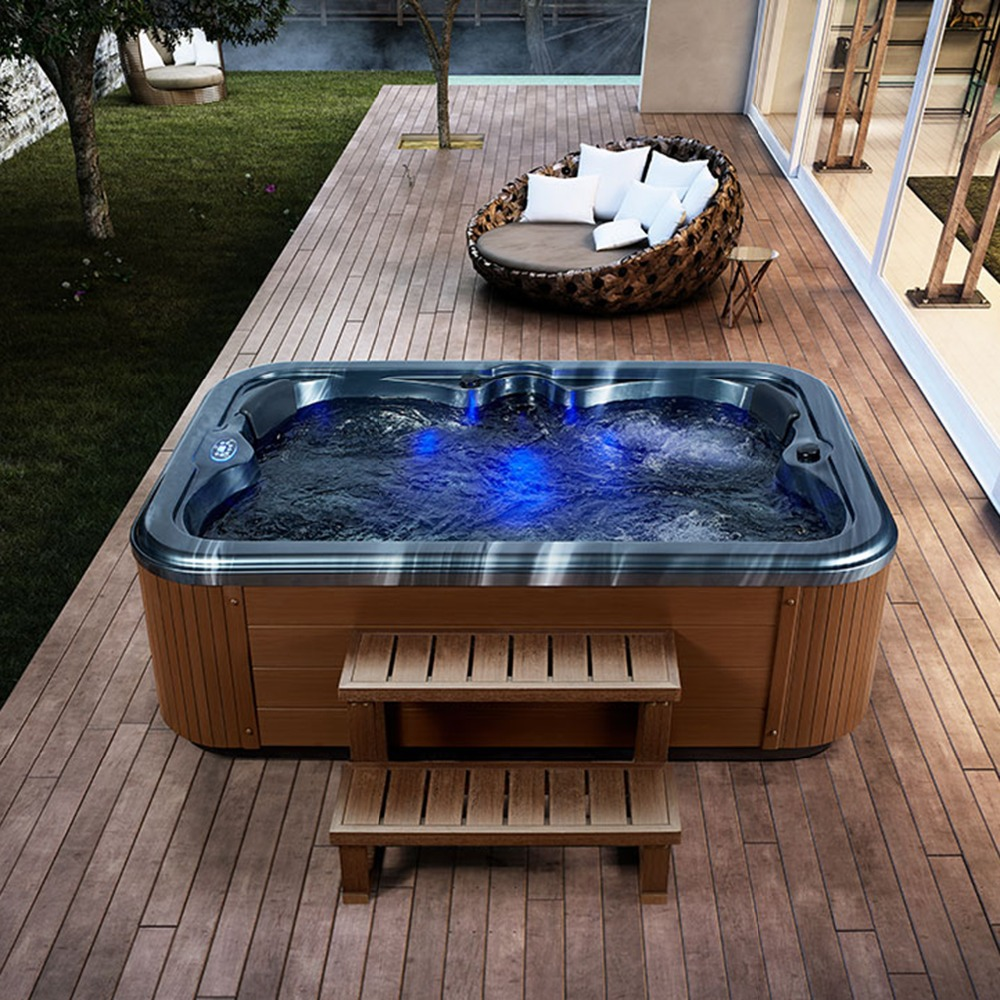 Courtyard Hot sale 4 People Spa Tubs made in China deluxe outdoor ...