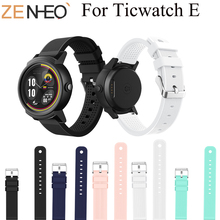 Colorful Soft Silicone Watchband For Ticwatch E Wristwatch Sport Band Replacement Watch Strap For Ticwatch E Straps Watch Bands quality silicone watchband 23mm black sport style for mens replacement silicone watch bands with steel buckle
