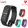 2017 New L38I Heart rate Smart Band Bluetooth 4.0 Pedometer Calls/ message remind wristband for Android 4.4 IOS 8 above