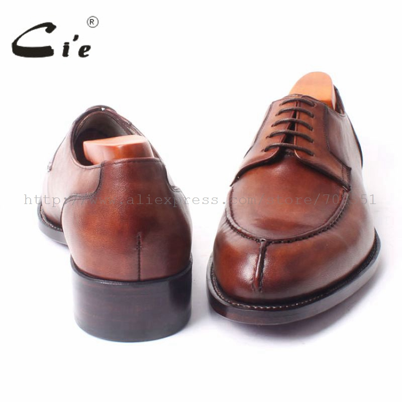 Sola Do Derby Lacing Passado Não Respirável Amplo Dedo Mais Vestido Pé Marrom Goodyear Handmade Sapato Redondo Brown Homens Cie De Couro Welted Dos D101 wCnpq5Zn