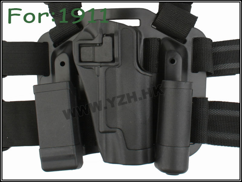 CQC For 1911 style Multi Mission 4 in 1 Tactical puttee thigh belt drop Leg Waist right handed Airsoft Holster W/ Mag Pouch