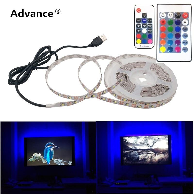 USB Led Strip 5V IP65 Waterproof Light SMD3528 50cm 1m 2m 3m 4m 5m Pink Green Red Blue Christmas Flexible TV Background Lighting