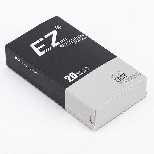 EZ Revolution Needle Cartridge Regular Long Taper Round Liner Tattoo For Rotary Cartridge Tattoo Machine Pen 20PCS/Box