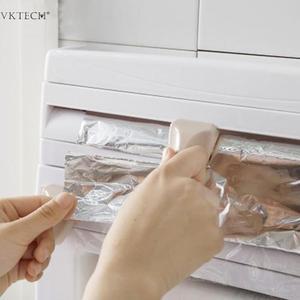 Image 5 - Настенный бумажный держатель для полотенец подставка для соуса 4 в 1 пластиковый нож для пленки Многофункциональный кухонный Органайзер