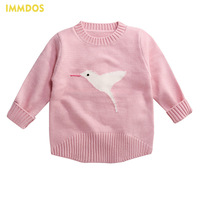 IMMDOS O Neck Winter Baby Party Sweaters 2017 New Cute Boys Girls Cardigan Clothes Autumn Kids