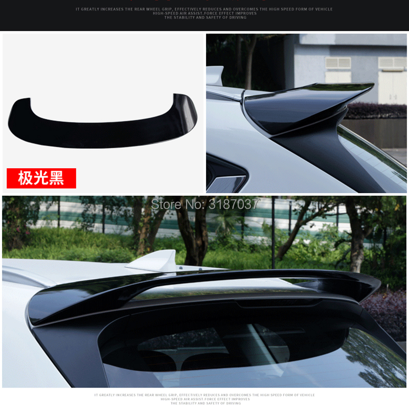 for <font><b>Mazda</b></font> CX-5 CX5 2017 <font><b>2018</b></font> ABS Plastic Unpainted Color Rear Roof <font><b>Spoiler</b></font> Wing Trunk Lip Boot Cover Car Styling image