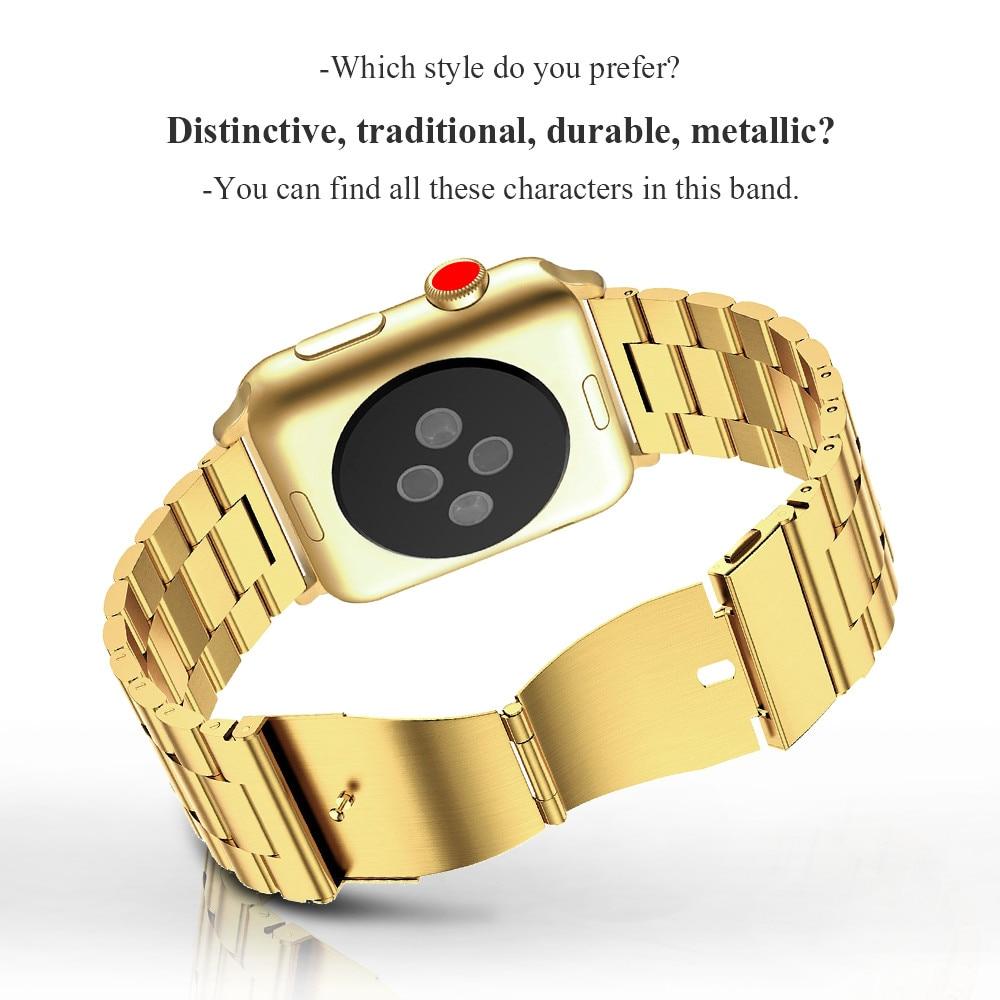 Curea din oțel inoxidabil pentru ceas Apple 42mm 38mm 4 3 2 1 - Accesorii ceasuri - Fotografie 3