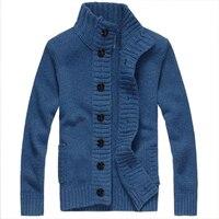 2017新しいニットカーディガンセーター厚いセーターコートラインカジュアルジャケットブルーサイズxxl