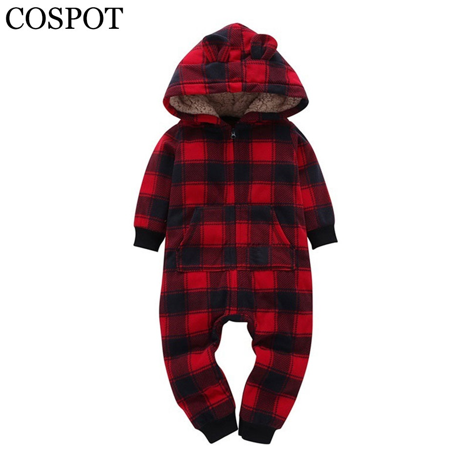 COSPOT 2018 Spring&Winter Baby Boy Clothes Baby Rompers Newborn Clothing One Piece Baby Girl Clothes Romper Hooded Jumpsuit 30F baby rompers newborn infant clothing 2016 brand baby boy girl long sleeve one piece romper bamboo leaves toddler jumpsuit