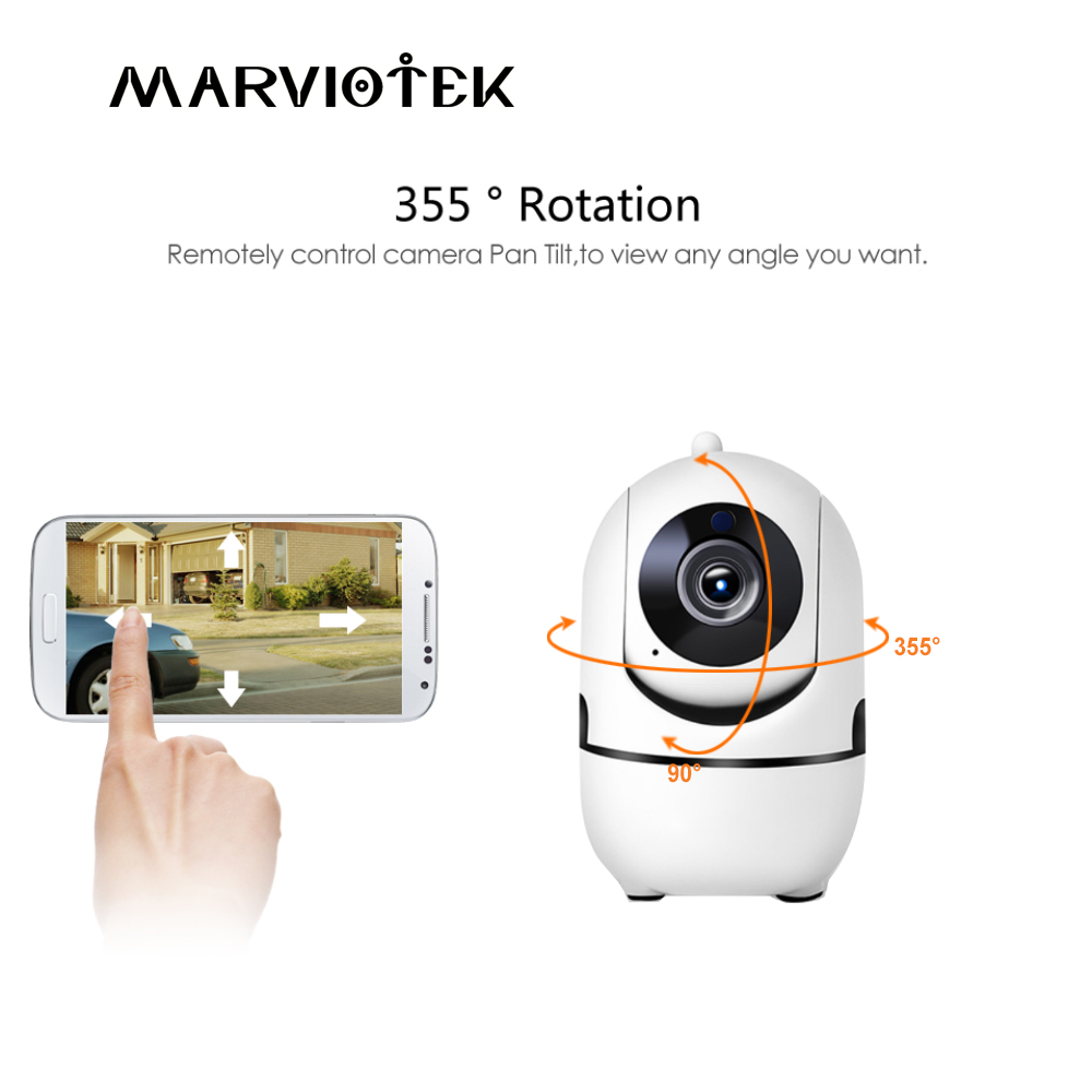720P HD Baby Monitor with Camera Wireless Home Security IP Camera WiFi Two Way Audio Mini Camera Night Vision CCTV Camera P2P IR цена