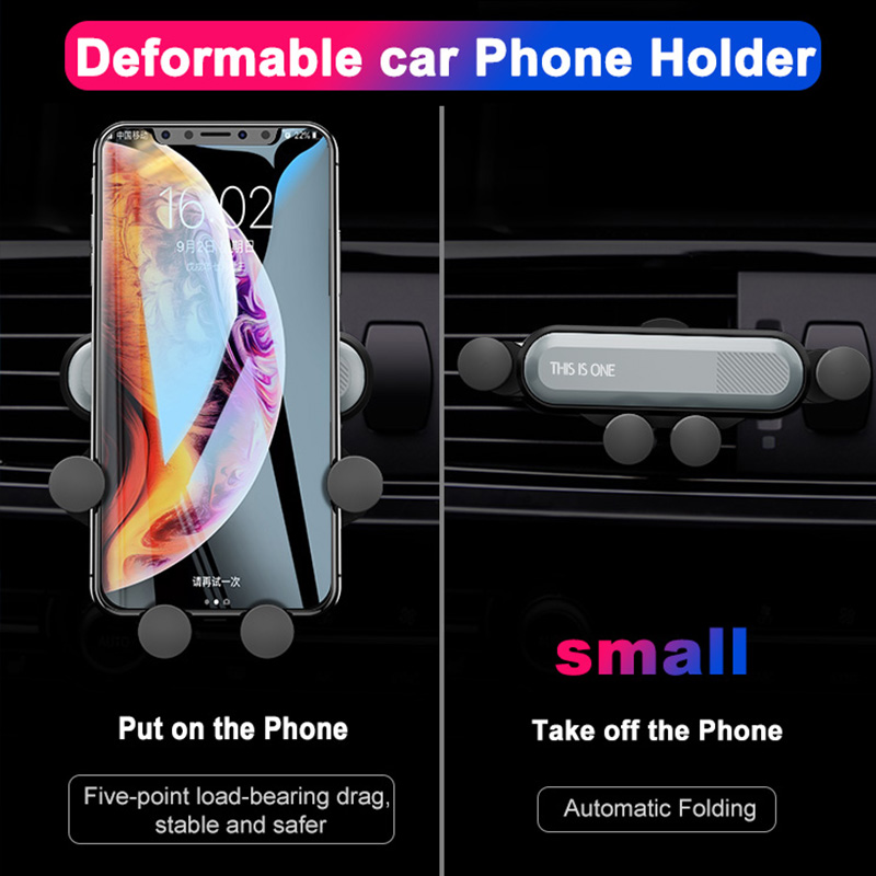 Image 2 - Car vent mobile phone holder universal automatic grip creative gravity induction car GPS bracket car phone stabilizer snap on-in Universal Car Bracket from Automobiles & Motorcycles