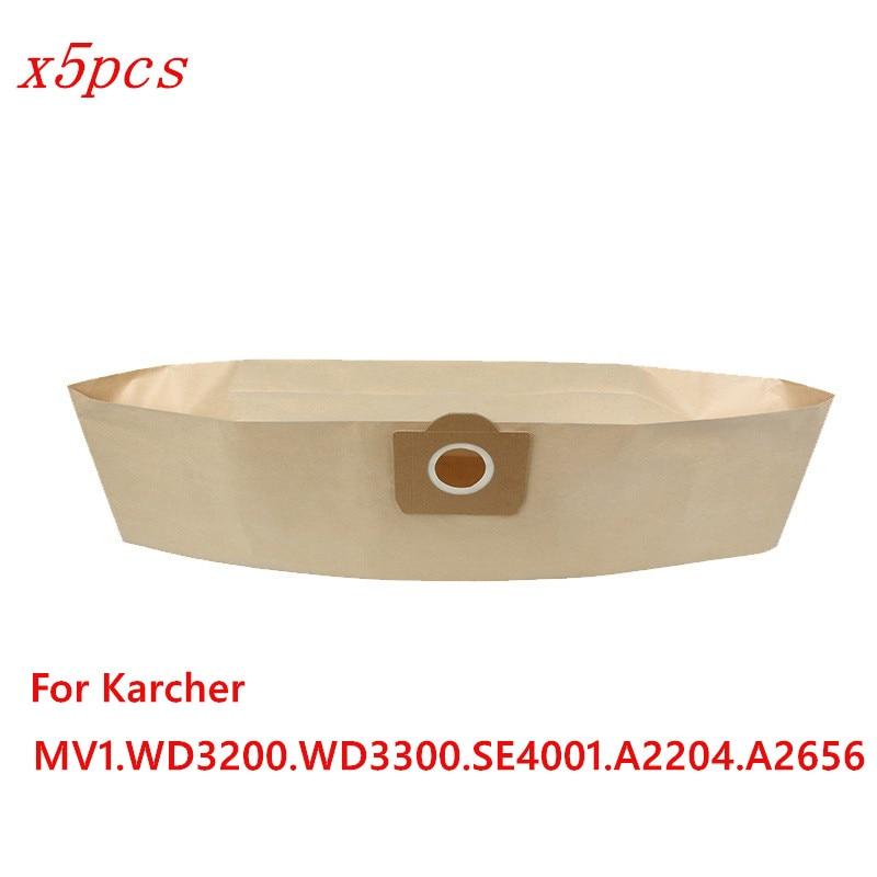 5pcs/lot vacuum cleaner paper dust bag for KARCHER Bag MV1 A2204 A2656 WD3300 WD3200 SE4001 vacuum cleaner parts dust bag рюкзак thule stir 28l mens dark shadow 3203547