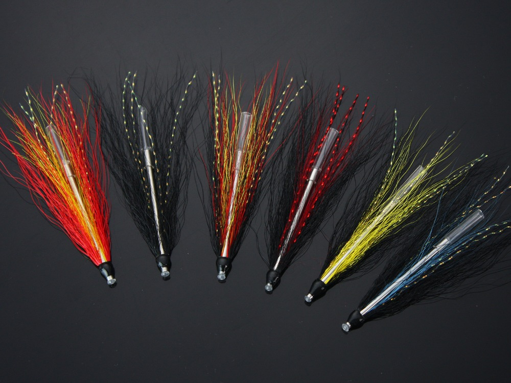 Sea Trout Tube Fly Needle Tube Salmon Flies Selection (12-pack)